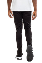 Load image into Gallery viewer, LEATHER TRACK PANTS - BLACK