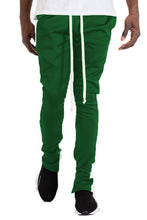Load image into Gallery viewer, SLIM FIT TRACK PANTS GREEN/WHITE