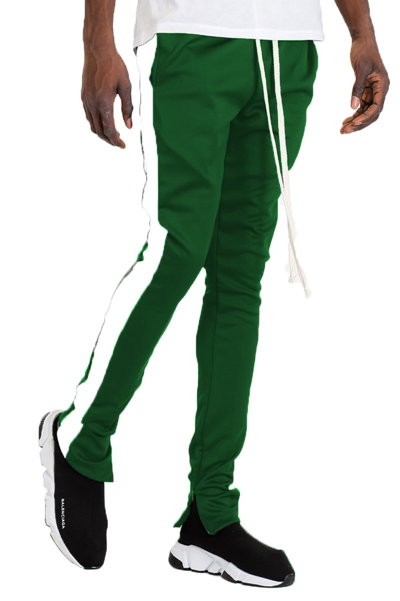 SLIM FIT TRACK PANTS GREEN/WHITE