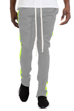 Load image into Gallery viewer, CLASS SLIM  FIT TRACK PANTS- GREY/ LIME