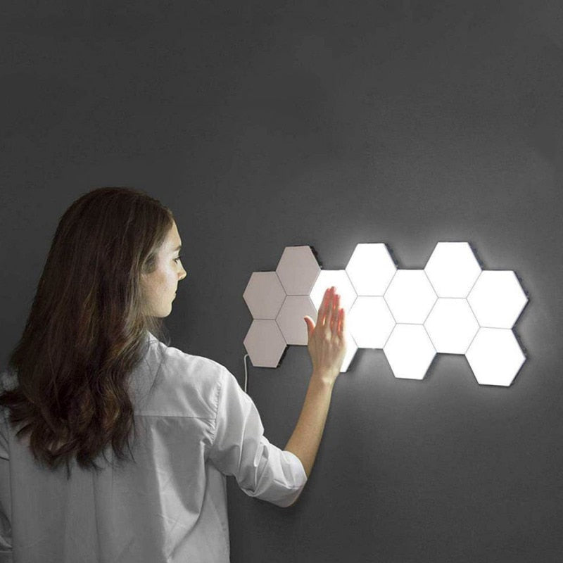 Creative Quantum Light Touch Sensor Night Lights LED Hexagon Light Home Decor Color Night lamp Magnetic Modular touch Wall Lamp