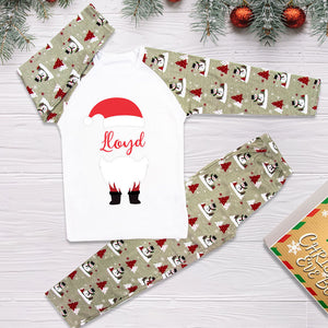 Personalised Christmas Pyjamas - Grey (face name)