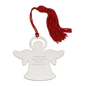 Personalised Nickel Plate Angel Tree Decoration