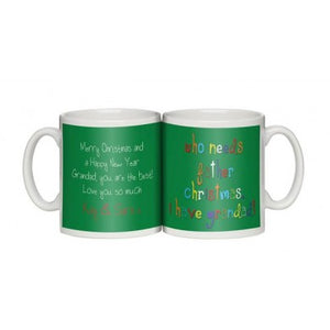 Personalised Grandad You're the Best Christmas Mug | Bits & Bobbets