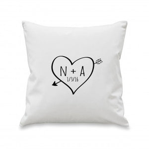 Personalised Sketch Heart Cushion
