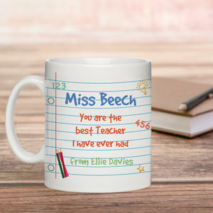 Personalised Best Teacher Ever Mug | Bits & Bobbets