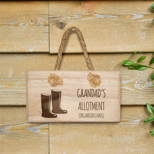 Personalised Organised Chaos Wooden Hanging Sign | Bits & Bobbets