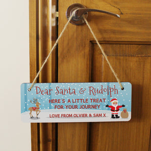 Treats for Santa Hanging Sign