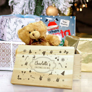 Personalised Winter Motif Christmas Eve Box