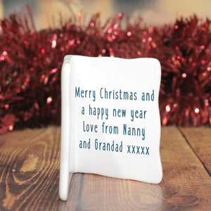 Wishing You A Merry Christmas Message Card