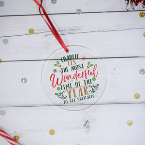 Personalised Most Wonderful Time Acrylic Decoration