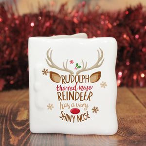 Personalised Rudolph the Red-Nosed Reindeer Message Card | Bits & Bobbets