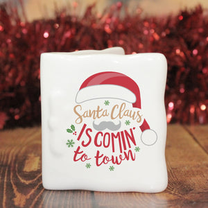 Personalised Santa Claus Is Comin' To Town Message Card