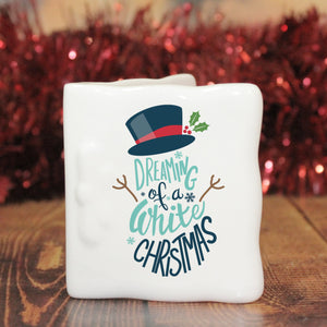 White Christmas Message Card | Bits & Bobbets