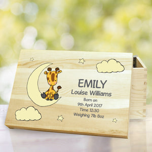 Personalised Sweet Dreams Giraffe Memory Box | Bits & Bobbets
