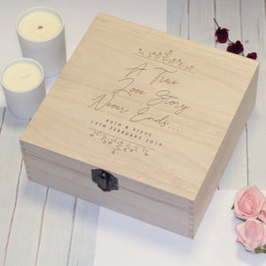 True Love Story Personalised Memory Box | Bits & Bobbets