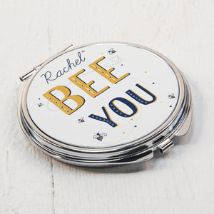 Personalised Bee You Compact Mirror | Bits & Bobbets