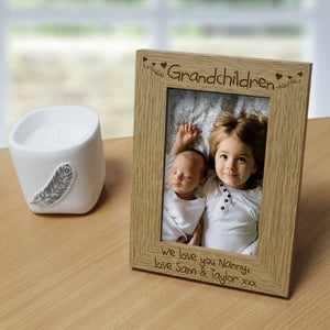Grandchildren Personalised Wooden 6x4 Frame | Bits & Bobbets