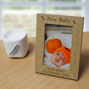 Personalised New Baby Wooden 6x4 Frame | Bits & Bobbets