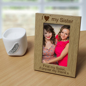 I Love My… Personalised Wooden 6x4 Frame | Bits & Bobbets