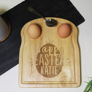 Personalised Happy Easter Egg and Soldiers Board | Bits & Bobbets