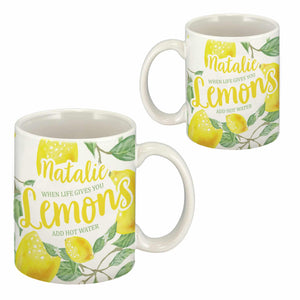 Life Gives You Lemons Personalised Mug | Bits & Bobbets