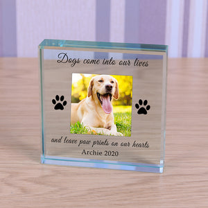 Personalised Glass Token - Paw Prints | Bits & Bobbets