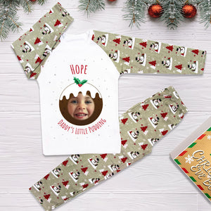 Personalised Christmas Pyjamas - Grey (Pudding)