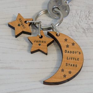 Personalised Little Stars Key Ring | Bits & Bobbets