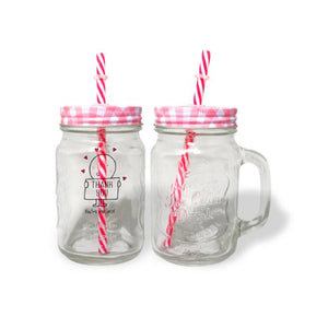 Personalised Chilli & Bubbles Thank You Red Lid Mason Jar | Bits & Bobbets