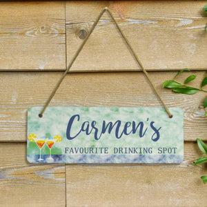 Personalised Favourite Drinking Spot Sign | Bits & Bobbets
