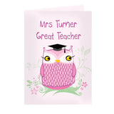 Personalised Mrs Owl Teacher Card | Bits & Bobbets