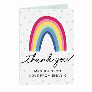 Personalised Rainbow Thank You Card | Bits & Bobbets