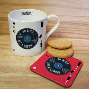 Oldie But A Goodie Personalised Mug & Coaster | Bits & Bobbets
