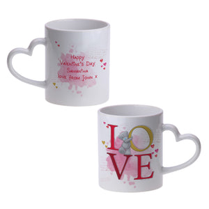 Personalised Me To You LOVE Heart Handled Mug | Bits & Bobbets