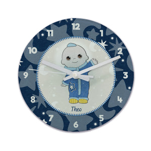 Personalised Moon and Me Moon Baby Glass Clock | Bits & Bobbets
