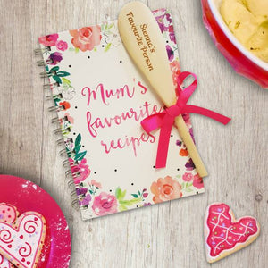 Mum's Favourite Recipe Book & Personalised Wooden Spoon | Bits & Bobbets