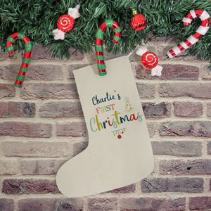 Personalised My First Christmas Stocking | Bits & Bobbets