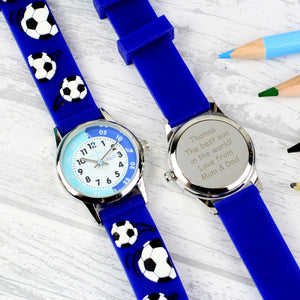 Personalised Kids Blue Time Teacher Watch with Presentation Box | Bits & Bobbets