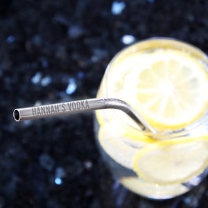 Personalised Reusable Eco Steel Straw | Bits & Bobbets