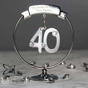 Personalised Crystocraft 40th Celebration Ornament | Bits & Bobbets