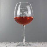 Personalised Wine O'Clock Bottle of Wine Glass | Bits & Bobbets