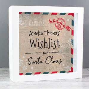 Personalised Wishes, Lists and Letters for Santa Keepsake Box | Bits & Bobbets