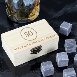 Personalised Birthday Whisky Stones | Bits & Bobbets