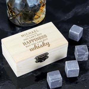 Personalised Happiness Whisky Stones | Bits & Bobbets