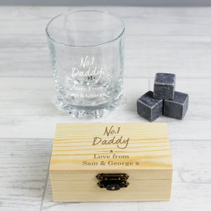 Personalised No.1 Whisky Stones & Glass Set | Bits & Bobbets