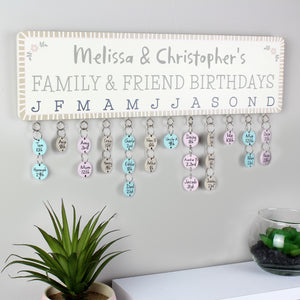 Personalised Birthday Planner Plaque | Bits & Bobbets