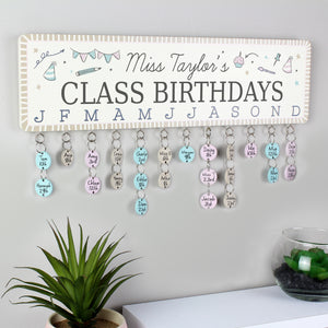 Personalised Classroom Office Birthday Planner Plaque with Customisable Discs | Bits & Bobbets