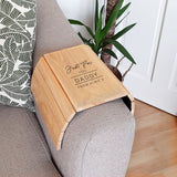 Personalised Classic Wooden Sofa Tray | Bits & Bobbets