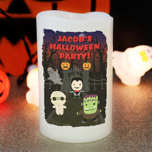 Personalised Halloween LED Candle | Bits & Bobbets